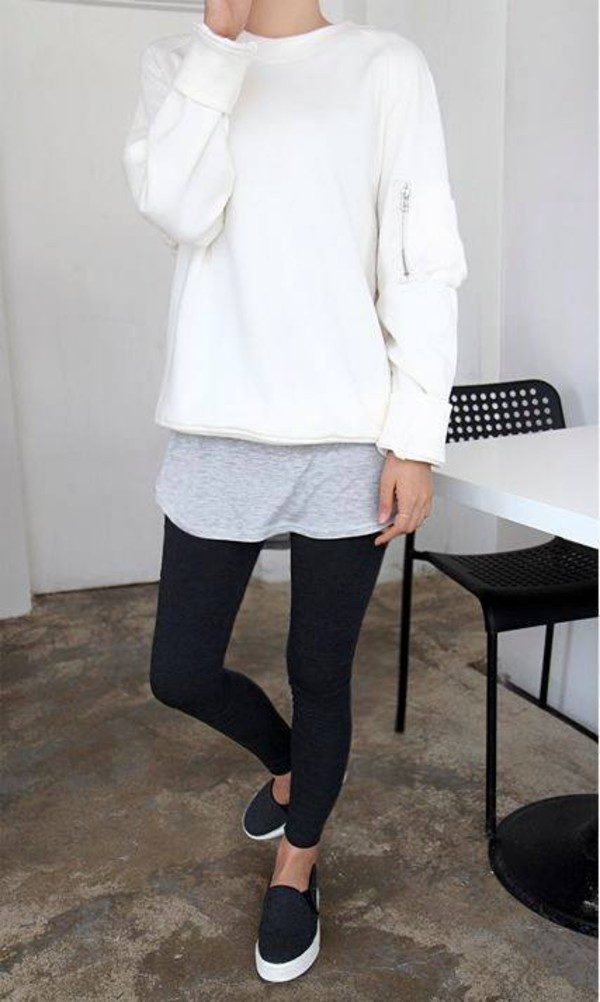 jeans con blanco