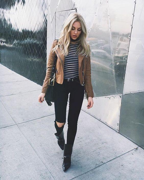 jeans negros combinar