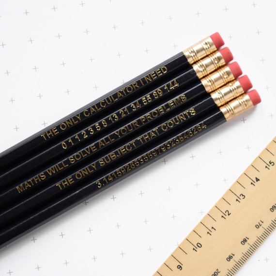 math pencils