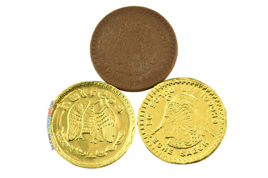 monedas chocolate