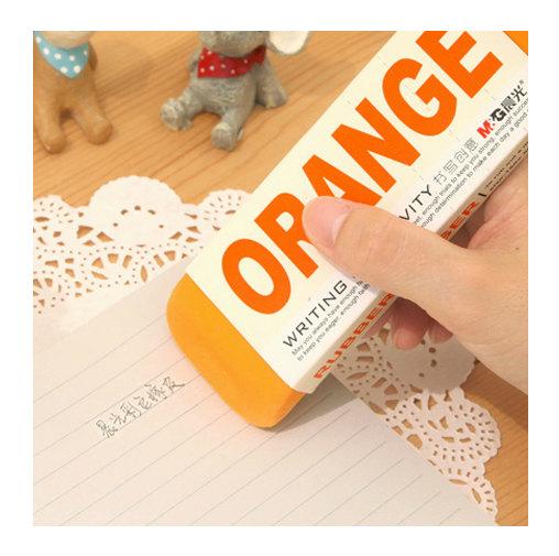 orange eraser