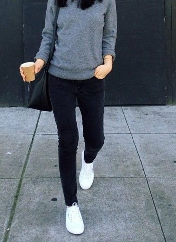 Outfits Casuales Con Jeans Y Tenis