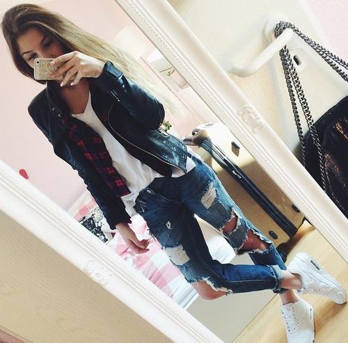 pantalones rotos outfit