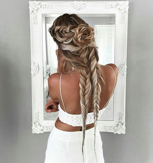 peinado impresionante