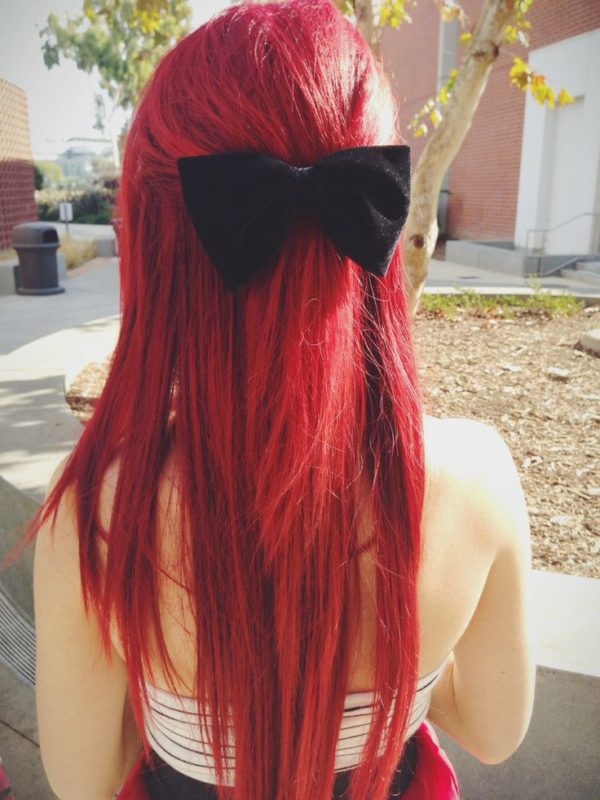 rojo peinados