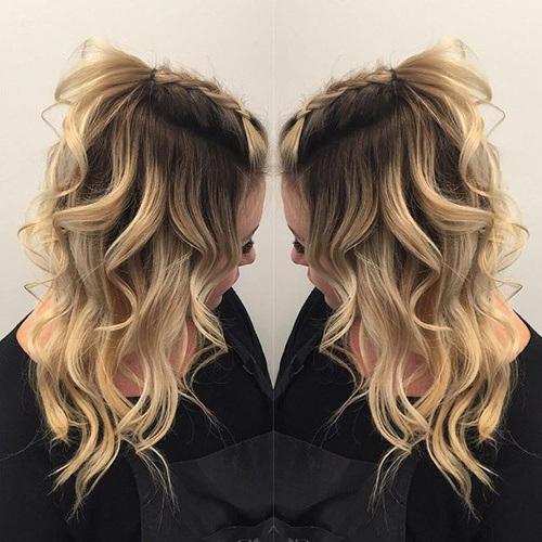 rubia peinado