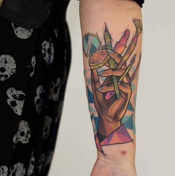 tatuaje de maquillaje