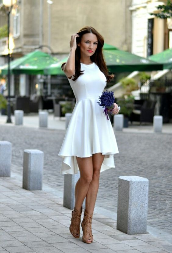 vestido blanco boda civil
