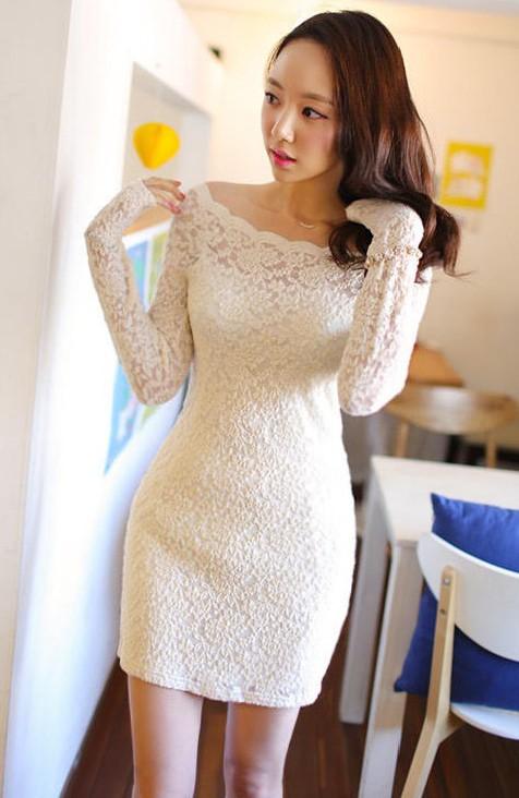 vestido blanco lace