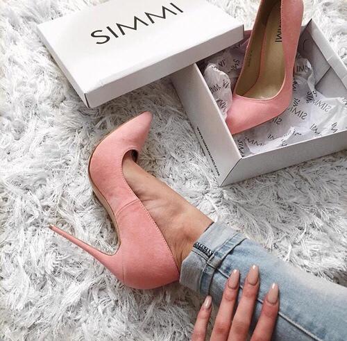 zapato roosa