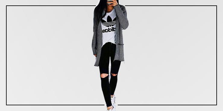 Hacer Una Con Súper Que Chic Playera Puedes Outfits Adidas wPYBfqWIY