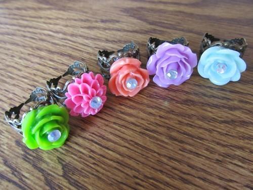 anillos flores