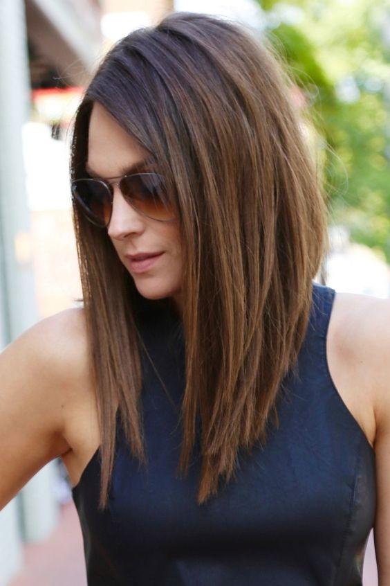 Imagenes de corte de pelo largo lacio