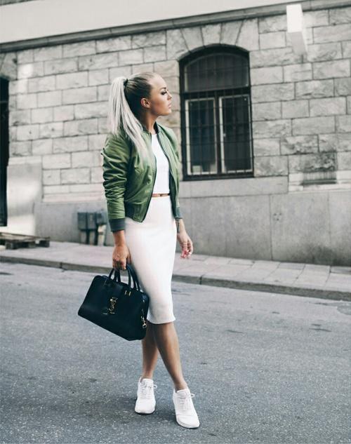 blanco y verde outfit