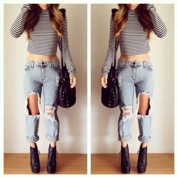 botines jeans