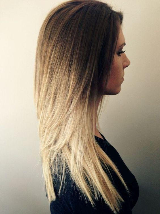 Corte en capas cabello largo y lacio