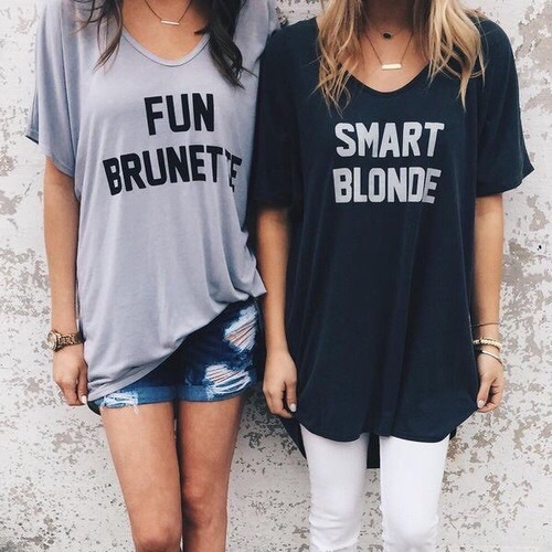 fun brunette