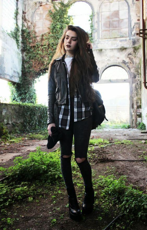 grunge dark outfit