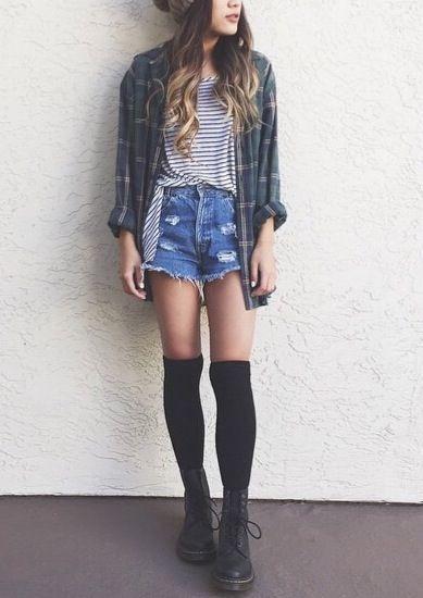 grunge moda para mujeres