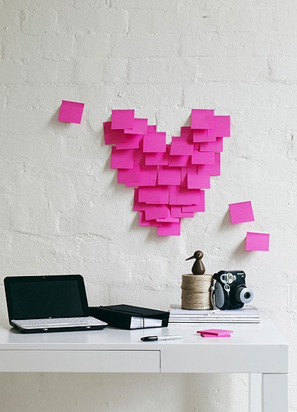 heart post it