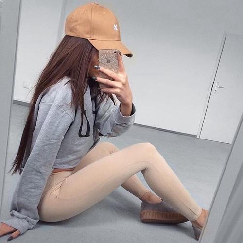 leggings color carne