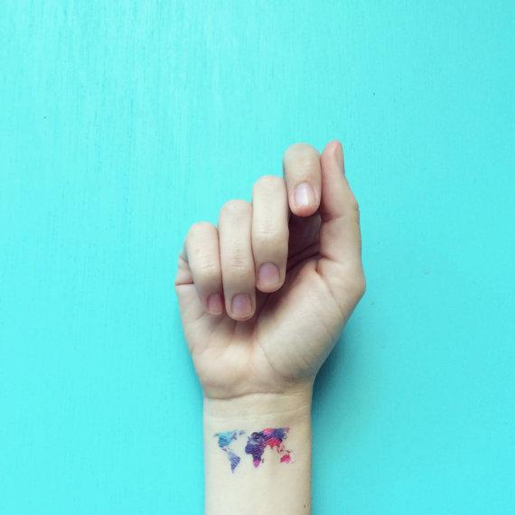 mapamundi tatuaje