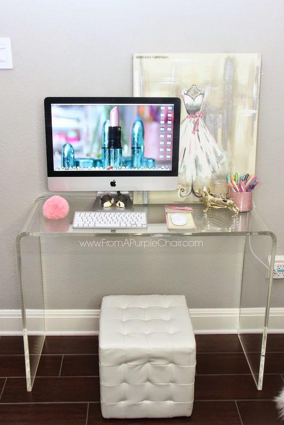 Clear Vanity Table