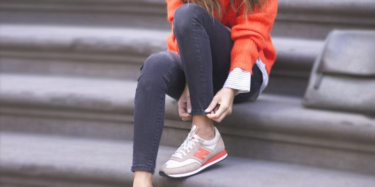 new balance gris chica