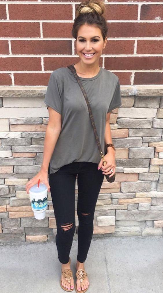Outfits con prendas grises para usar en tu d a a d a for Women s travel pants for hot weather