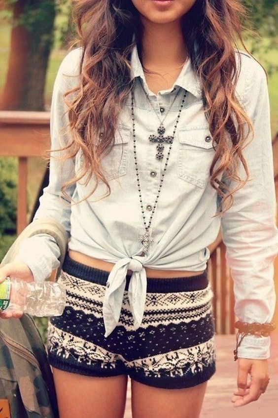 wool short outfit