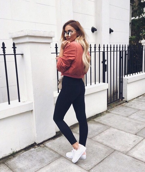 outfits con chamarra bomber