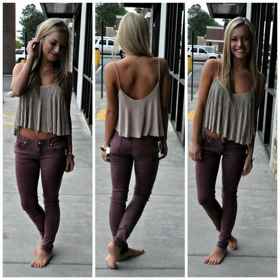 pantalones violeta