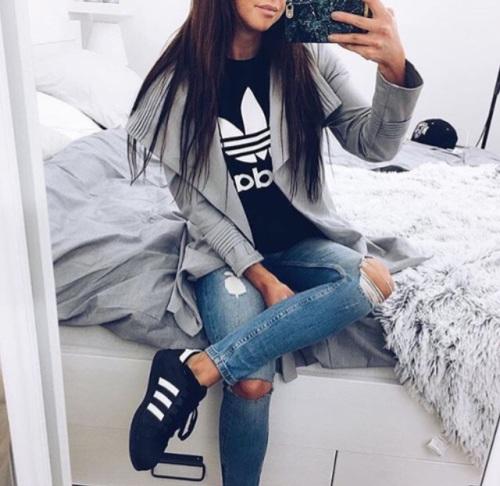 playera adidas chic