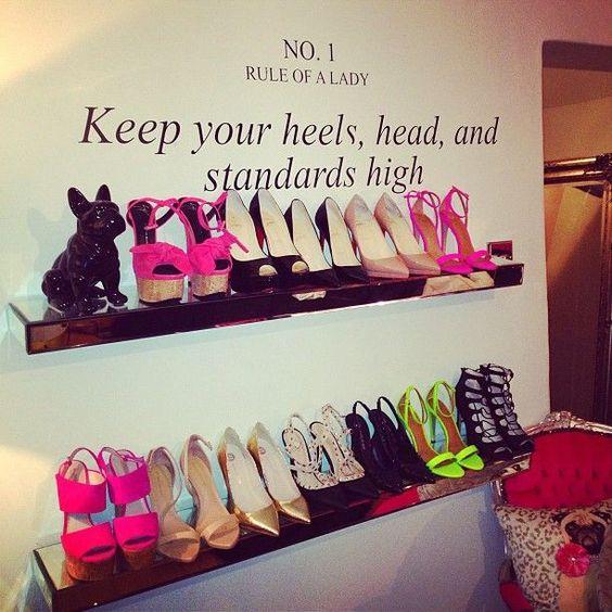 repisas con frases para tus zapatos