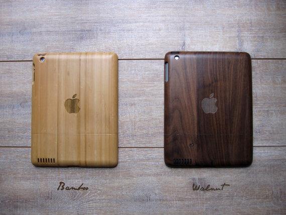 tablet ipad madera funda