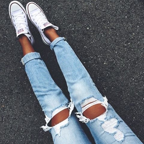 tennis and jeans