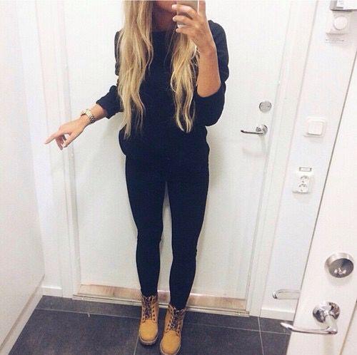 Botas timberland outfit mujer