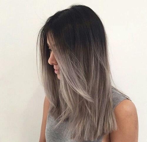 cabello gris chic