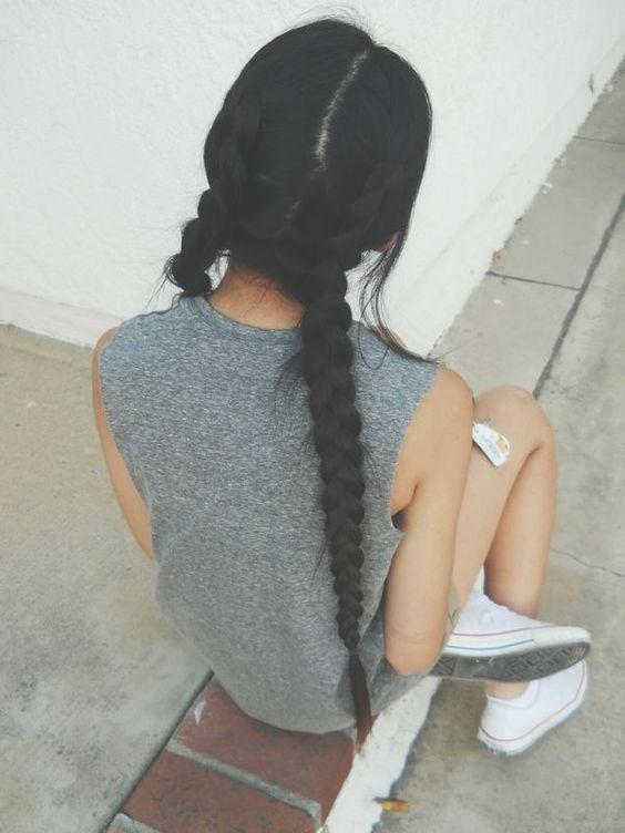 cabello mujer negro