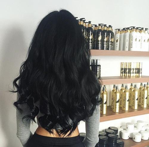 cabello todo negro