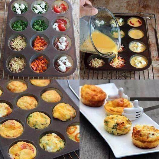 cupcake omelett
