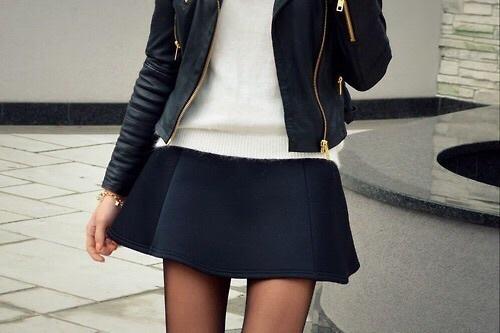 falda con chamarra