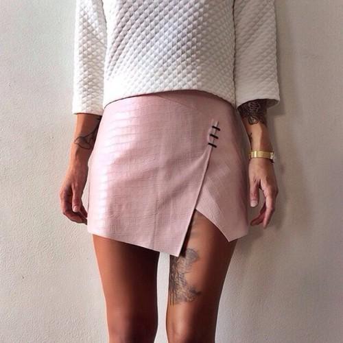falda recta