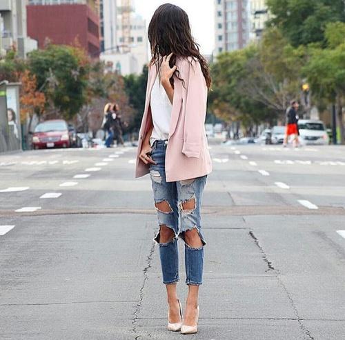 jeans rotos saco