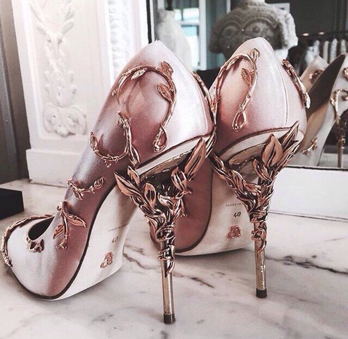 rose gold zapato tacon