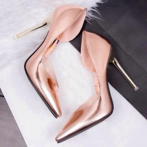 rose gold zapato