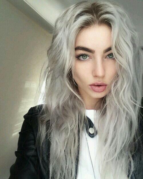 whitee hair