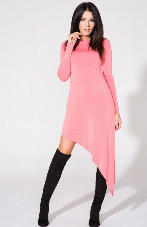 asimetric-pink-dres