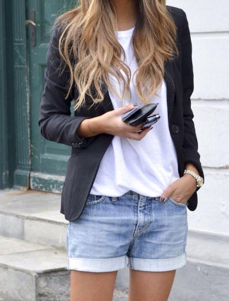 blazer y shorts