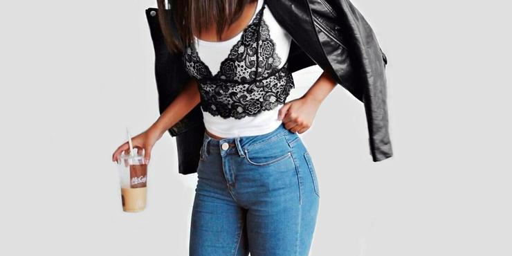 78916d079de0f7 Ideas para usar Bralette con tus jeans favoritos